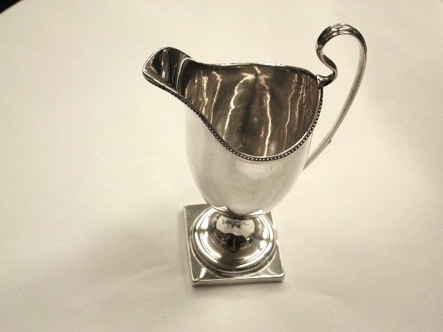 Bead Edge George 111 Silver Helmet Shaped Creamer