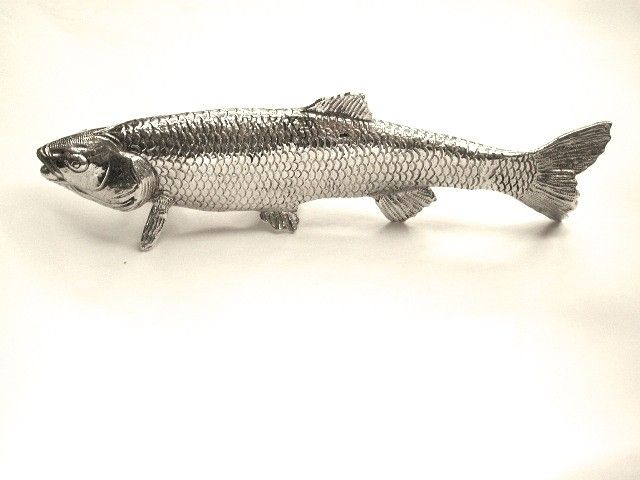 Silver Plated Cast Model of a Fish