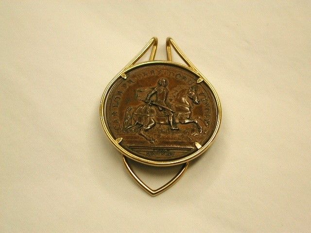 Cartier 9ct Gold Mounted Bronze Medal Money Clip