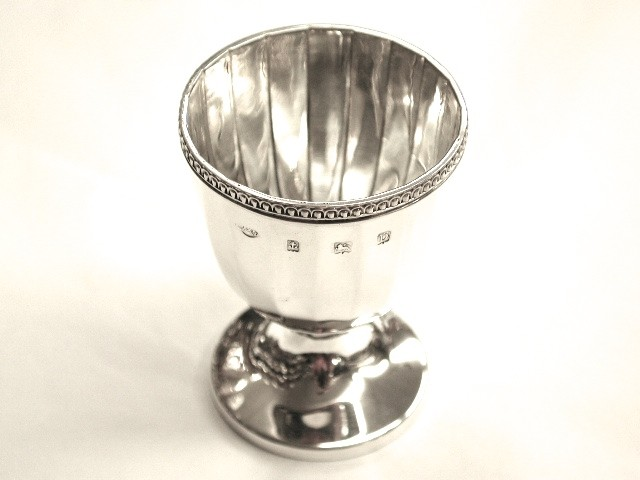 Silver Egg Cup with Panelling