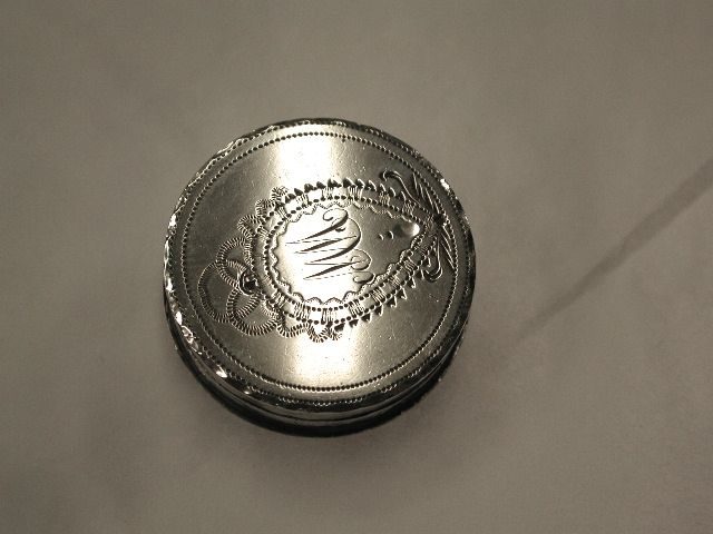 Antique George 111 Silver Patch Box
