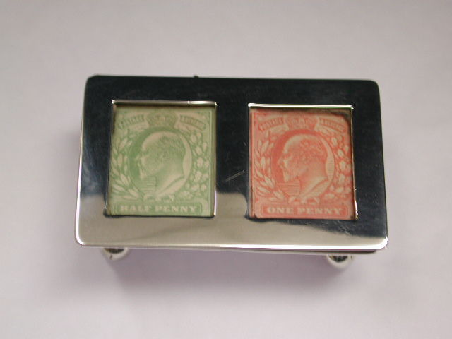 Edwardian Antique Silver Double Stamp Box