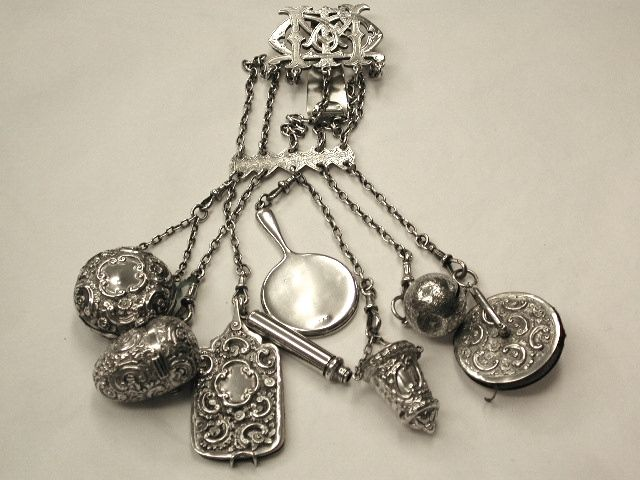 Antique Victorian Silver Chatelaine
