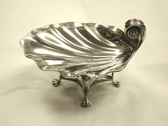 Unusual Silver Shell Sweet Dish In The Regency Style