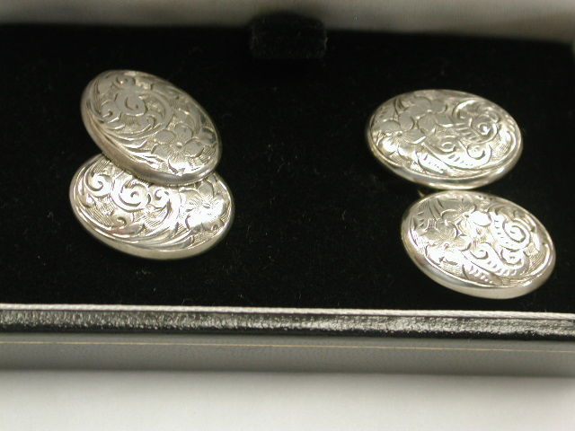 Pair of Victorian Silver Cufflinks