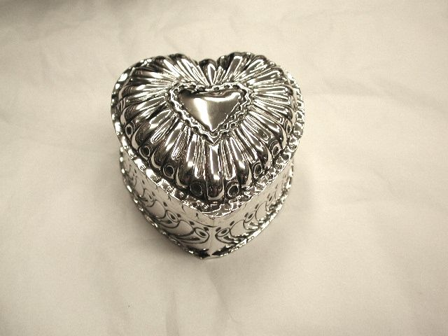 Victorian Embossed Silver Trinket Box