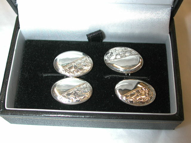 Pair of Antique Edwardian Silver Cufflinks