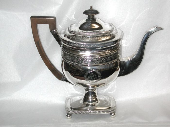 George 111 Silver Coffee Pot, by Peter and William Bateman, 1807