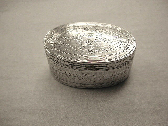 Antique German Silver Snuff Box