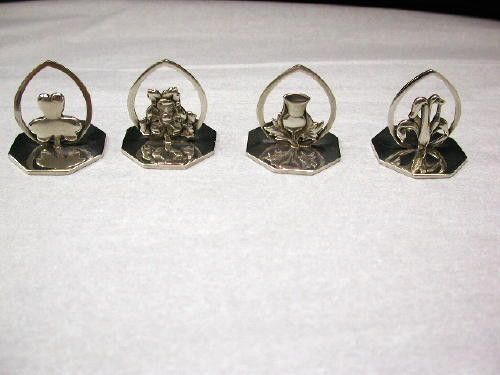 Set of 4 Silver Place Card Holders
