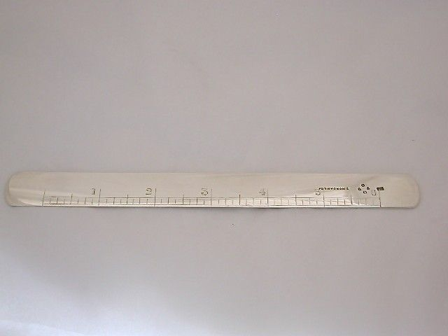 Antique Victorian Silver Novelty Letter Opener 6 Inch Ruler