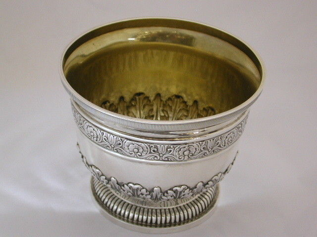 Antique Silver Rose Bowl in the Regency Style