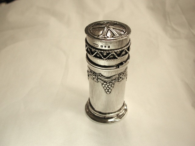 Silver Arts and Crafts Travelling Communion Set