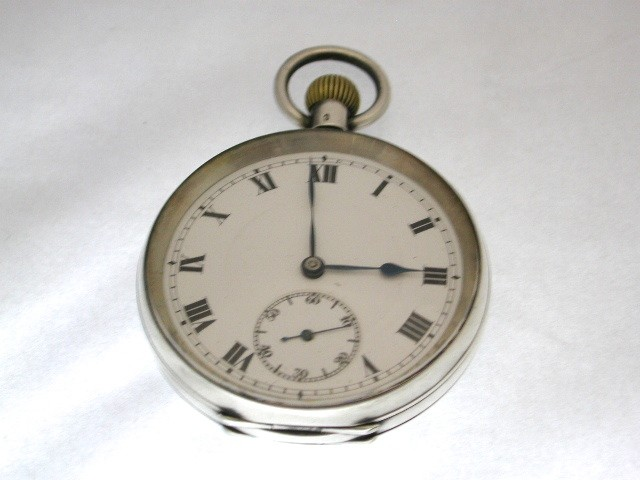 Silver Engine Turned Pocket Watch
