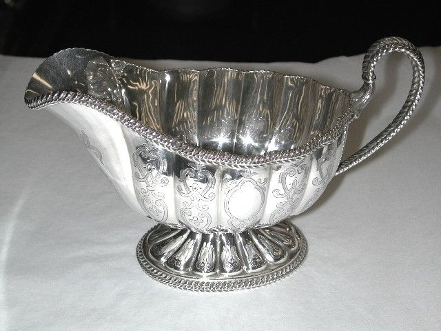 Antique Victorian Silver Sauce Boat