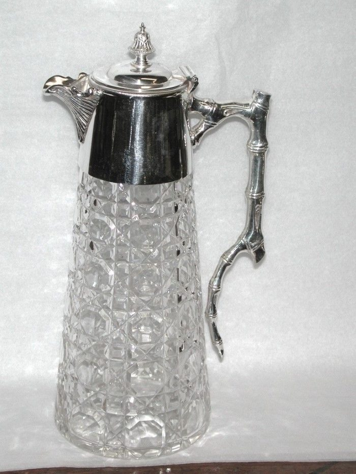 Silver plated and Cut Glass Claret Jug
