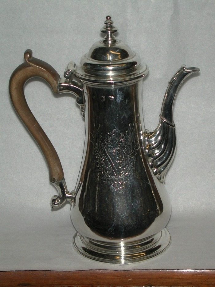Antique George 11 Silver Coffee Pot
