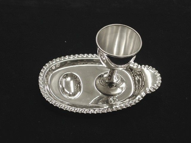 Antique Silver Egg Cup and Stand