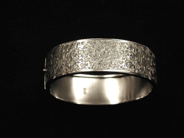 Antique Victorian Silver Bangle