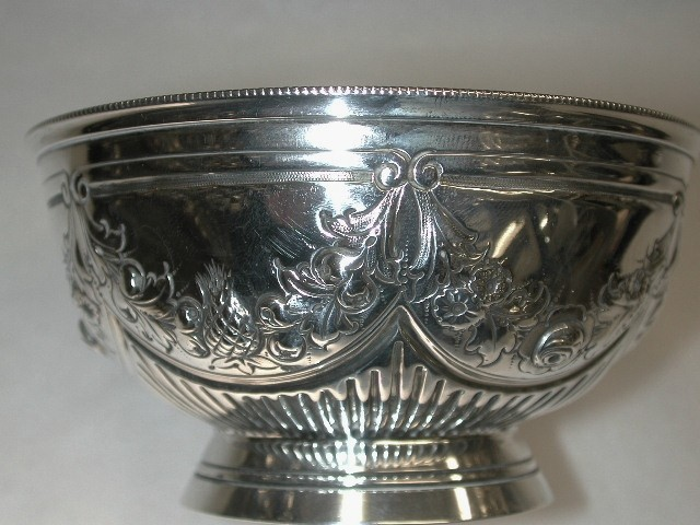 Antique Victorian Silver Bowl