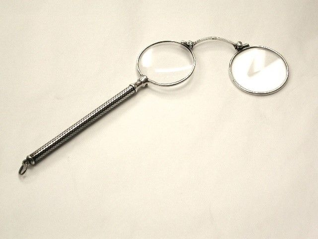Pair of Antique French Neillo Enamelled Silver Lorgnettes