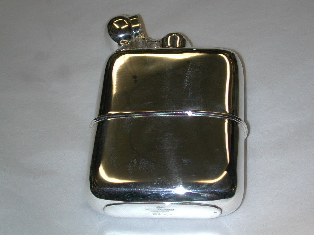 Antique Silver Plated Hip Flask