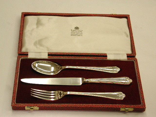 Silver Child's Knife,Fork, and Spoon Set