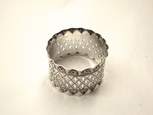 Antique Victorian Silver Napkin Ring